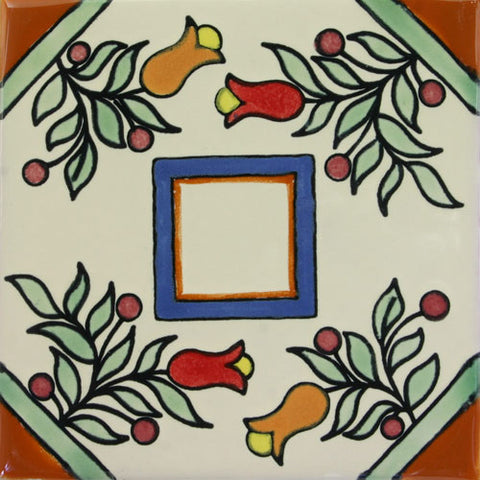 Especial Ceramic Decorative Mexican Tile - Ventana Flores