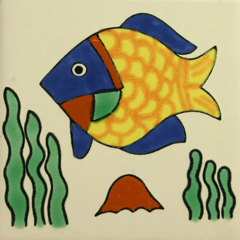 Especial Decorative Ceramic Mexican Tile   Fish