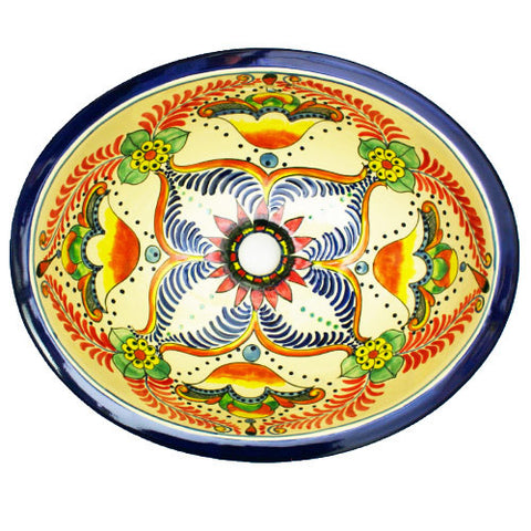 Traditional Mexican Sink- Flor De La Pasion