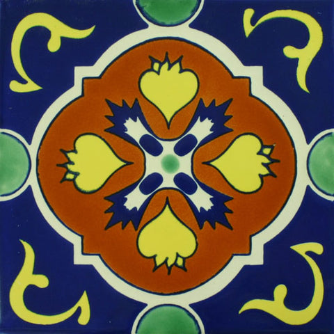 Especial ceramic decorative Mexican tile - Dolores