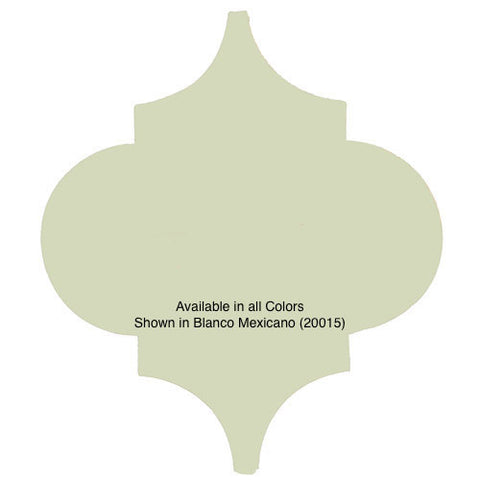 Andaluz shaped solid color ceramic Mexican tile