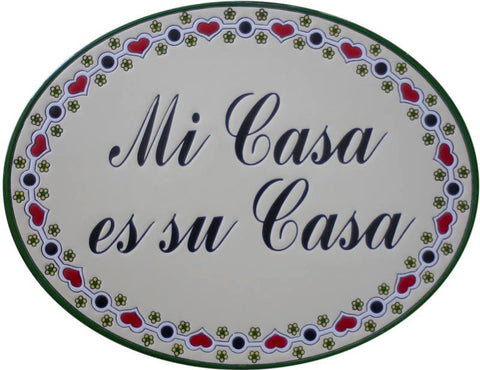 Custom hand painted ceramic sign