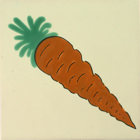 Carrot ceramic tile