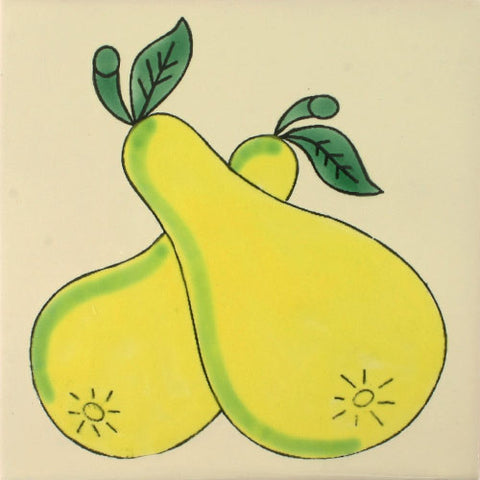 ceramic pear tile