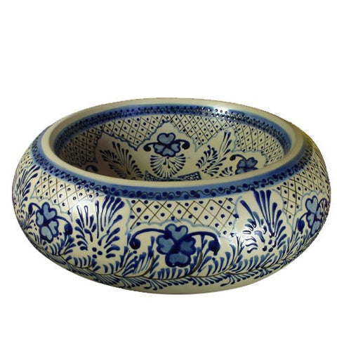 Traditional Mexican Sink-Flor Azul Porcelain