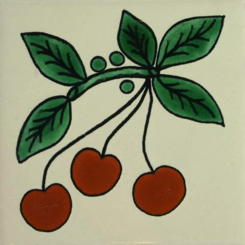 Cherries Porcelain pool and spa tile