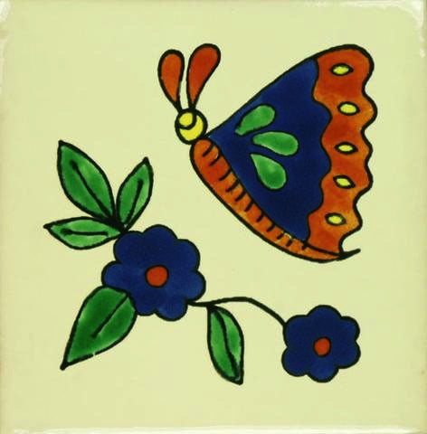 Butterfly Porcelain Pool Tile