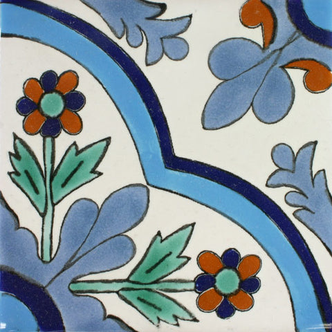Ceramic Mexican Tile - Apodaca Azul