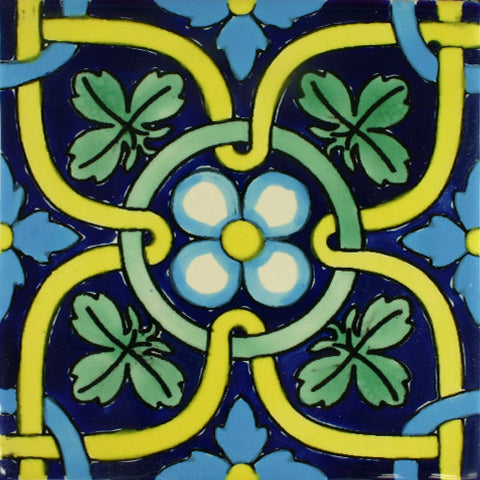 Ceramic Mexican Tile - Trebol