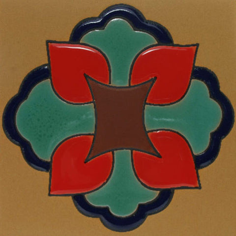 Raised relief Mexican tile pattern