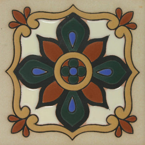 Raised relief Mission style tile