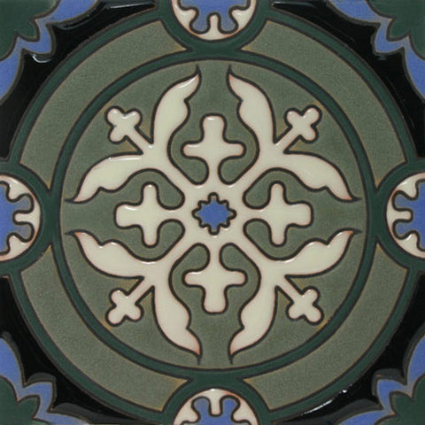 Moorish hand painted tile
