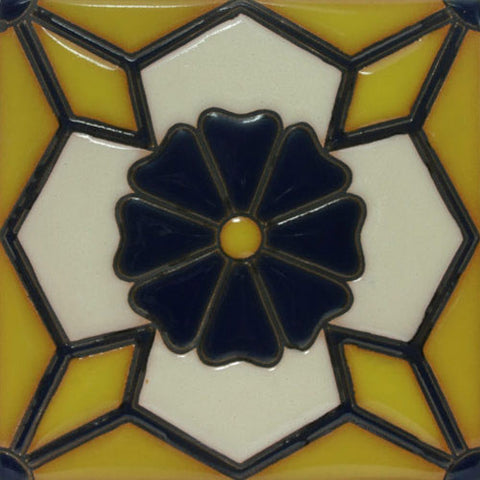 Yellow raised relief tile