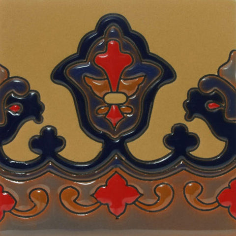 Raised relief tile border