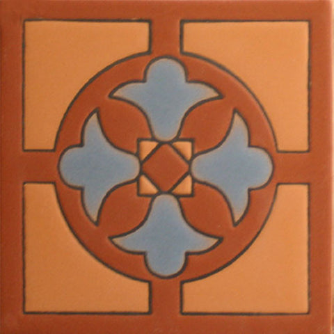 Arts and Craft raised relief tile