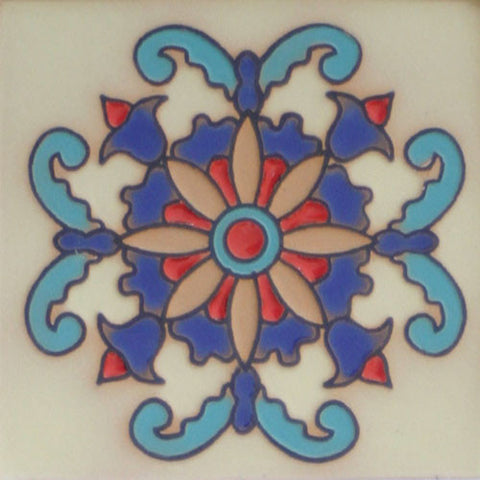 Raised relief Spanish tile