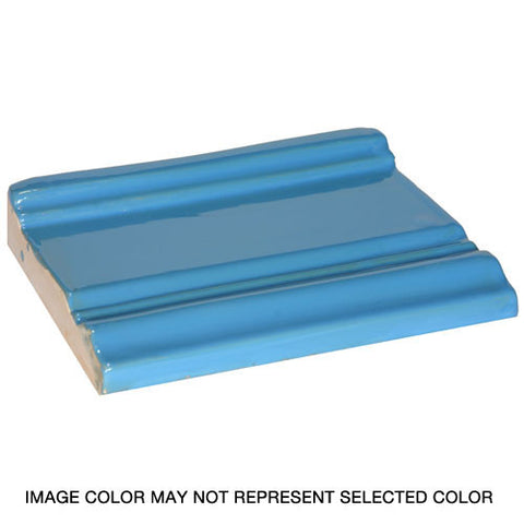 Decorative ceramic base board trim tile