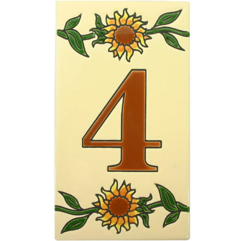 Girasol Mexican Tile Numbers