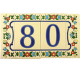 Flores Pequenas Mexican Tile Numbers