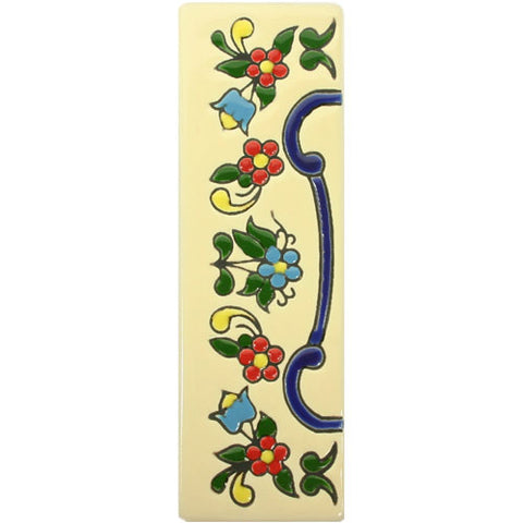 Mexican Tile FLORES PEQUENAS END TRIM