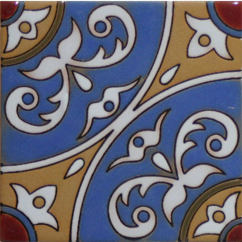 Raised relief ceramic tile