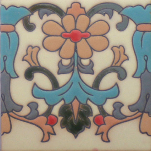 Raised relief border tile