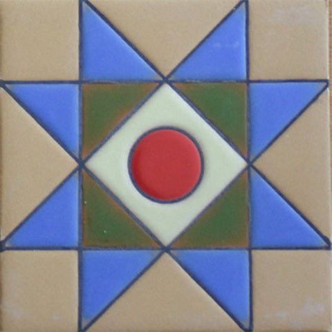 Hand painted Southwest tile