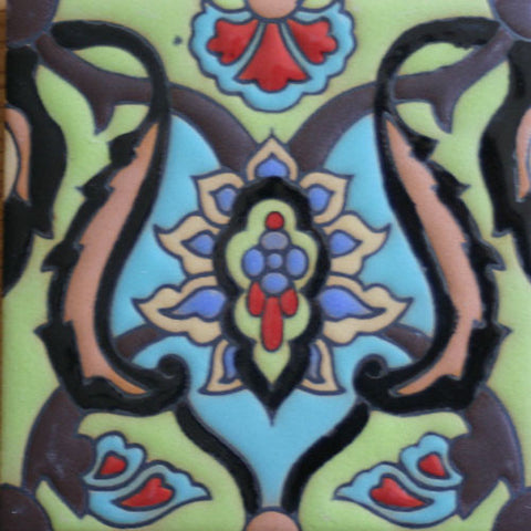 Hand painted Mexican tile