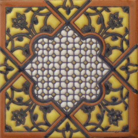Moorish raised relief tile