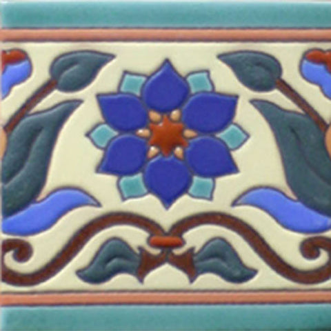 Mission style Mexican tile border