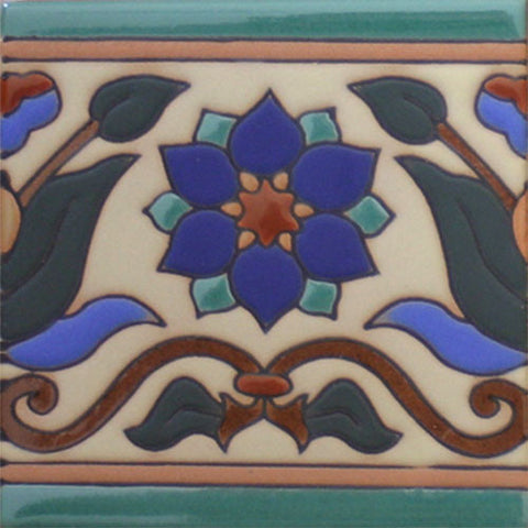 Arts and Crafts border tile