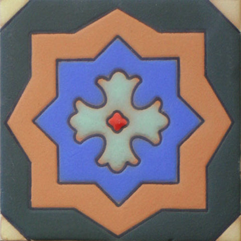 Raised relief Mexican tile