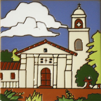 Santa Cruz Historic Mission Tile