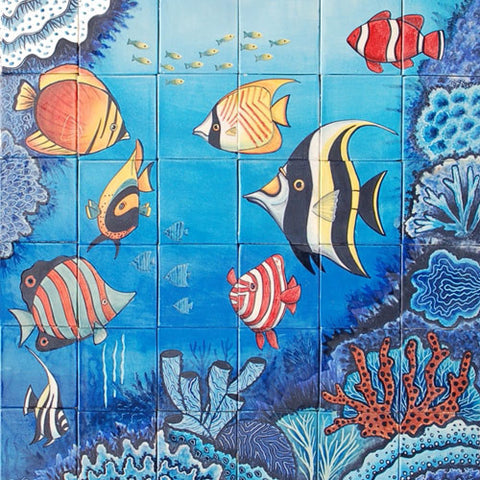 Mexican Style Mural - Acuario