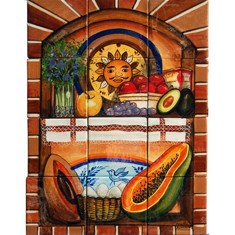 Mexican Style Mural - Alacena