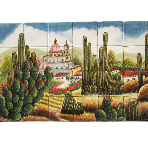 Mexican Style Mural - Cactus