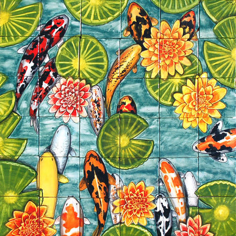 Mexican Style Mural - Peces