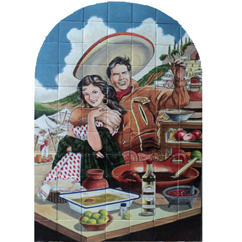 Mexican Style Mural - Charros