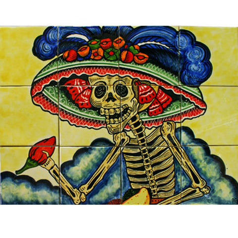 Day of the Dead tile mural