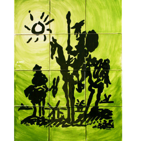 Mexican Style Mural - Don Quixote
