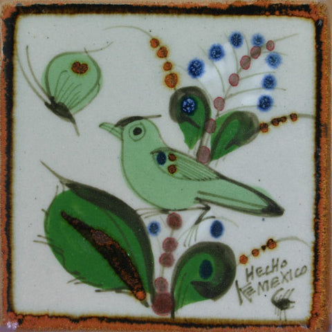 Ken Edwards green bird tile