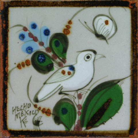 Ken Edwards white bird tile