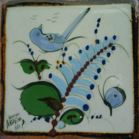 Ken Edwards bird and butterfly tile