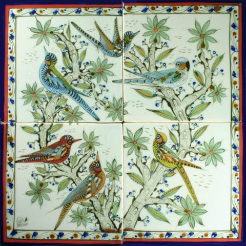 Bird tile mural by Ken Edwards