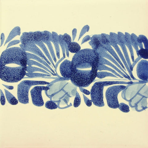 Gorky Gonzalez Mexican art blue border tile