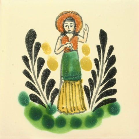 Gorky Gonzalez Mexican art woman tile