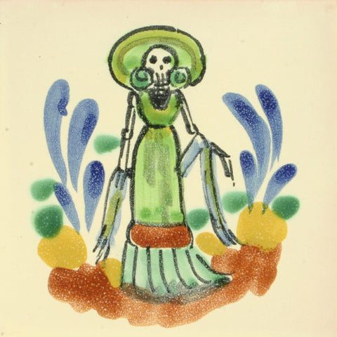 Gorky Day of the Dead art tile
