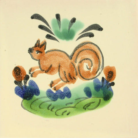 Gorky Gonzales Mexican art tile- squirrel
