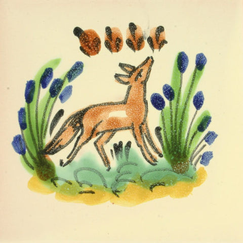 Gorky Gonzalez Mexican art tile fox