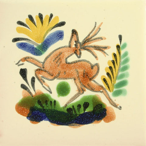 Gorky Gonzales Mexican deer tile